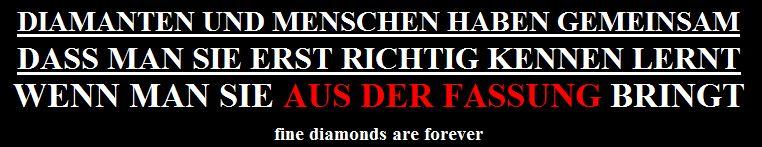 Diamant Slogans aus der Fassung