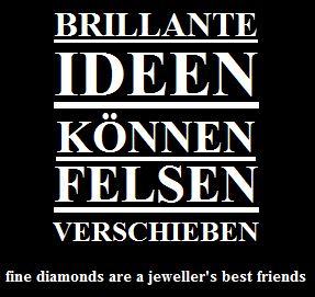 Diamant Slogans brillante Ideen