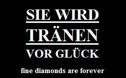 Diamant tränen vor Glück