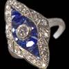 Diamant Erbschaft Art Déco Saf Ring