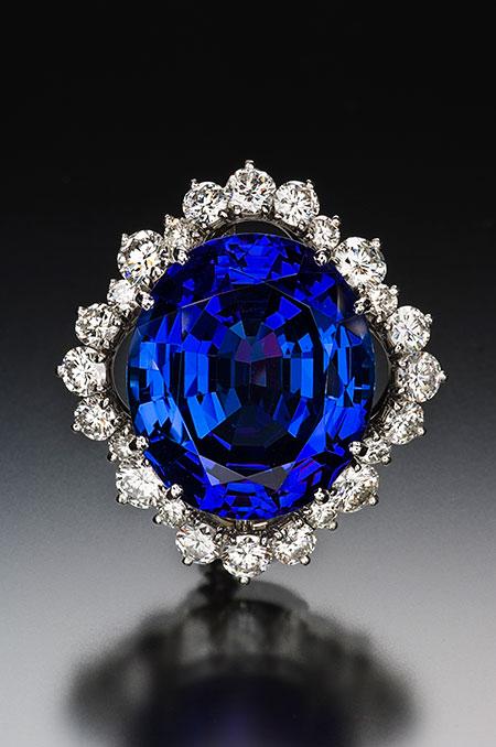 Diamant Erbschaft Tansanit 33.55 brooch