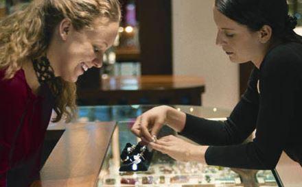 Diamant Schulung Ladentisch