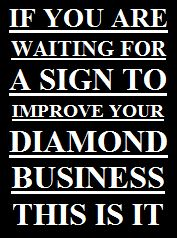 Diamant Slogan sign to improve